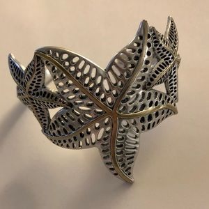 Lucky Brand Starfishes silver cuff